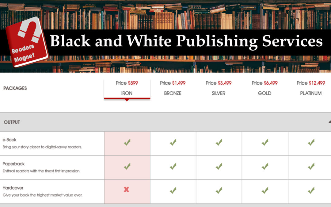 Black and white publishing services