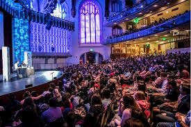 One of the conversations held at the Bovard Auditorium, LA Times Festival of Books.