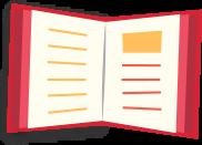 Book open colored