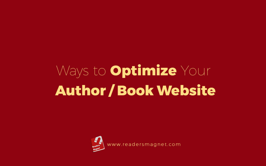 Ways To Optimize Your Author Book Website banner