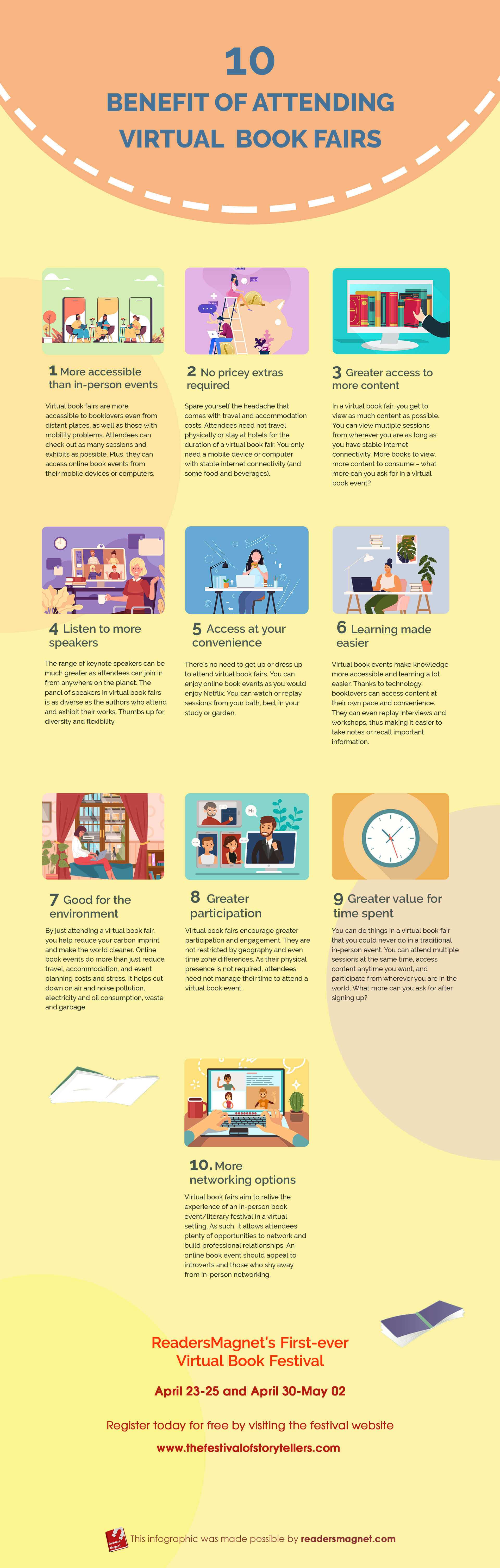 Rm Infographic 10 Benefits Of Attending Virtual Book Fairs infographic